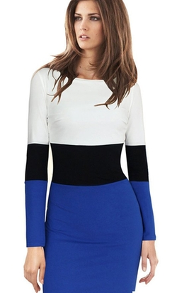 Merope J - Colorblock Pencil Dress