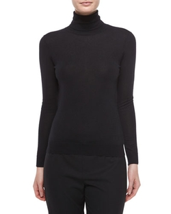 Ralph Lauren Black Label - Cashmere-Silk Knit Turtleneck Top