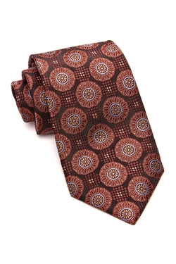Ike Behar - Pinwheel Medallion Silk Neck Tie