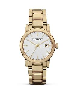 Burberry  - Gold Stainless Steel Watch