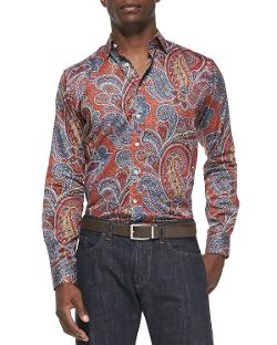 Etro  - Large-Paisley-Print Sport Shirt