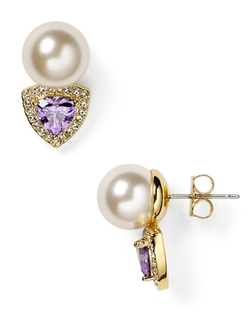Nadri  - Faux Pearl Stud Earrings