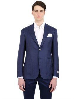 Canali  - Kei Wool & Silk Blend Twill Blazer