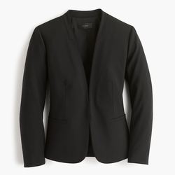 J.Crew - Collarless Blazer In Italian Stretch Wool