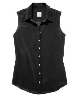 The Shirt by Rochelle Behrens  - Sleeveless Silk Shirt