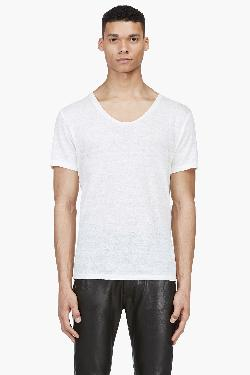 Acne Studios - Cream Linen Limit T-shirt