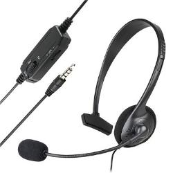 Everydaysource  - Wired Mono Headset with Boom Microphone