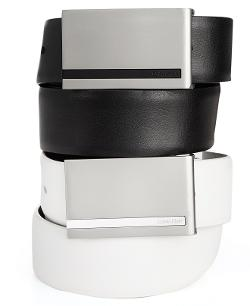 Calvin Klein  - Plaque Buckle Leather Belt