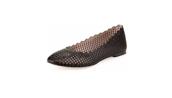 Chloé - Perforated Leather Ballerina Flat, Black