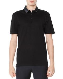 Lanvin  - Grosgrain-Collar Polo Shirt