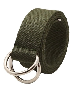 Nidicus - Solid Canvas Double D-Ring Metal Buckle Web Belt
