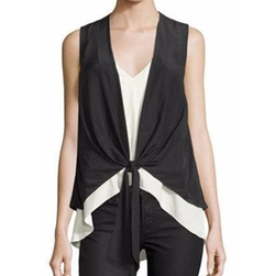 Cinq ? Sept  - Lulu Colorblock Waistcoat Combo Top