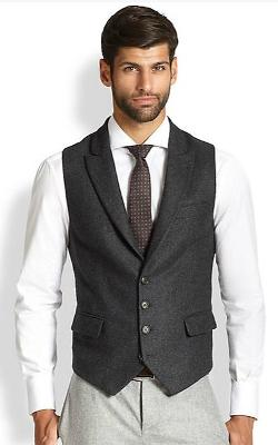 Brunello Cucinelli - Peaked Lapel Wool Vest
