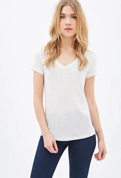 Forever21 - Classic V-Neck T-Shirt