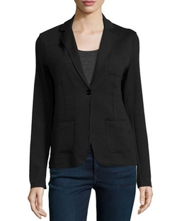 Majestic Paris For Neiman Marcus - One-Button Cotton/Cashmere Blazer