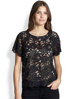 DKNY - Lace Raglan Tee Shirt
