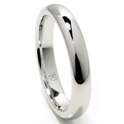 Titanium Kay  - Plain Dome Wedding Band Ring