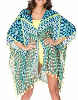 Red Carter - Geometric Print Cover-Up