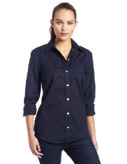Dickies  - Womens Long Sleeve Stretch Poplin Shirt