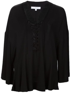 Iro - Lace-Up Blouse
