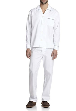 Saks Fifth Avenue Collection  - Piped Cotton Pajama Set