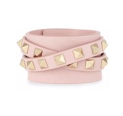 Valentino - Leather Rockstud Wrap Bracelet