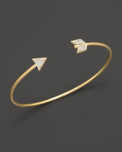 Meira T  - 14K Yellow Gold Arrow Bangle Bracelet