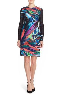 Maia - Print Scuba Sheath Dress