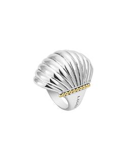 Lagos  - Silver Fluted Statement Ring