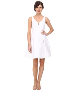 Donna Morgan - Ruby V-Neck Bodice Shantung Dress