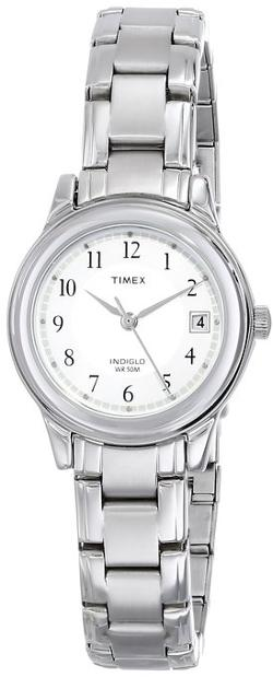 Timex - Elevated Classics Dress Sport Chic Silver-Tone Bracelet Watch