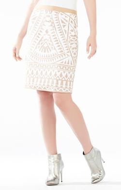 BCBGMAXAZRIA - Paxton Mosaic Tile Sequined Power Skirt