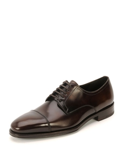 Salvatore Ferragamo  - Mabel Cap-Toe Lace-Up Oxford Shoes