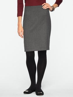 Talbots - Italian Flannel Pencil Skirt