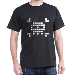Cafepress - Pixel Skull Dark T-Shirt