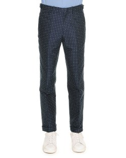 Alexander McQueen  - Polka-Dot Jacquard Trousers