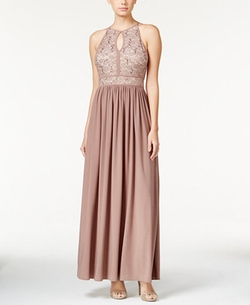 Morgan & Company - Lace Keyhole Gown