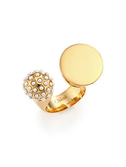 Chloé - Darcey Faux Pearl Sphere Open RIng
