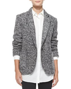 ATM   - Tweedy Fleece Boyfriend Blazer