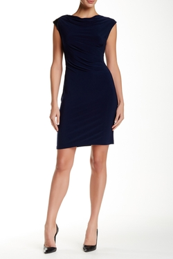 Nine West - Cap Sleeve Ruched Sheath Dress