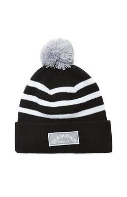 Diamond Supply Co -  Black Patch Pom Beanie