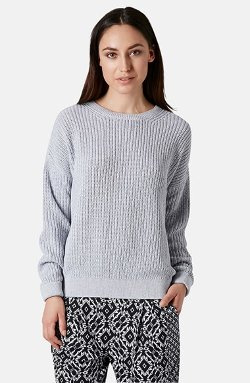 Topshop  - Ribbed Cotton Sweater