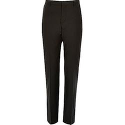 River Island - Black Wool-Blend Suit Pants