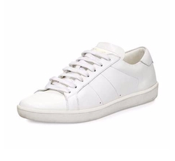 Saint Laurent - Leather Low-Top Sneakers