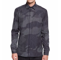Neil Barrett - Chalk-Stripe Camo Sport Shirt