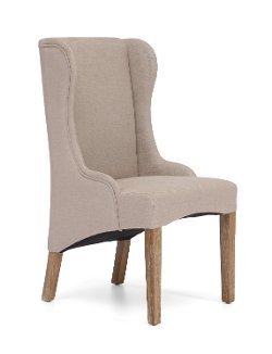 Furniture Maxx - Marina Commercial Grade Beige Wood Armchair