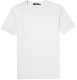Dolce & Gabbana - Scoop-Neck Cotton-Jersey T-Shirt