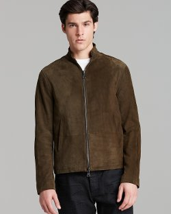 John Varvatos Collection  - Suede Split Seam Jacket