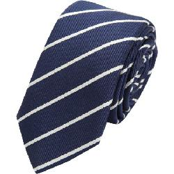 BARNEYS NEW YORK - English Stripe Skinny Tie