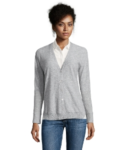 Magaschoni - Heather Cashmere Knit V-Neck Cardigan